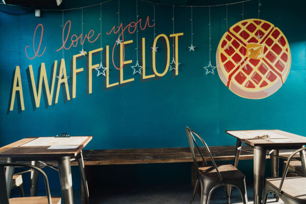 The Waffle Shack mural