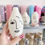 A abstract face vase for sale in Crystal Eclipse at Beach Street Felixstowe