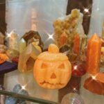 An orange Halloween pumpkin shaped crystal in Crystal Eclipse at Beach Street Felixstowe